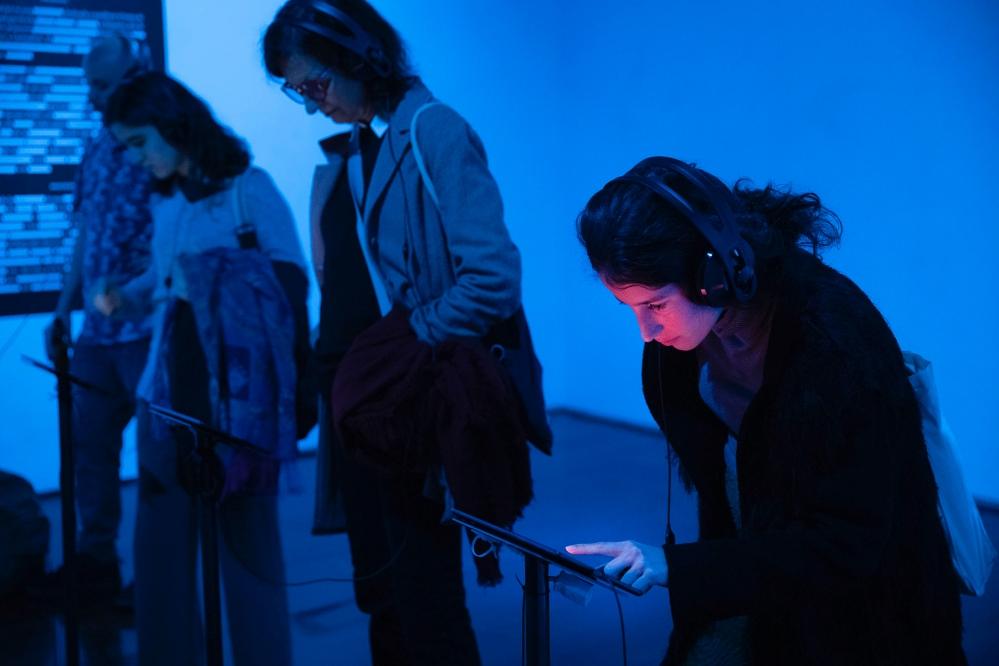 La instal·lació 'Jo soc allò prohibit' també compta amb una part informativa | Foto: Jordi Play