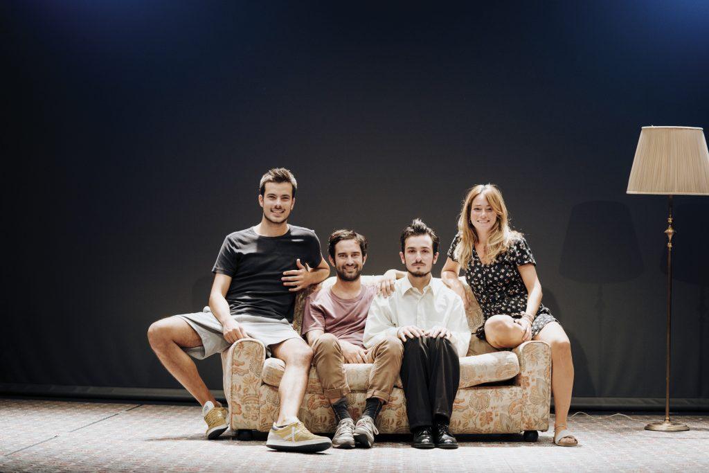 Jaume Casals, Àlex Ferré, Mikel Iglesias i Lídia Casanova protagonitzen 'Kràmpack'. © Andrea Font