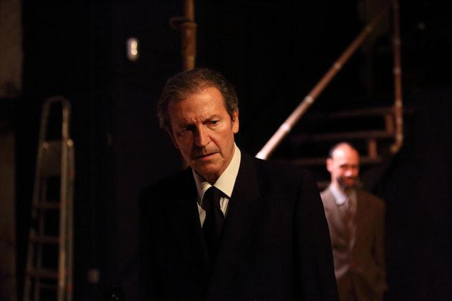 Pep Munné és 'Speer' al Teatre de la Gleva. Foto: Elisenda Canals.