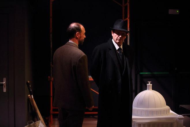 Xavier Ripoll i Pep Munné a 'Speer', d'Esther Vilar. Foto: Elisenda Canals.